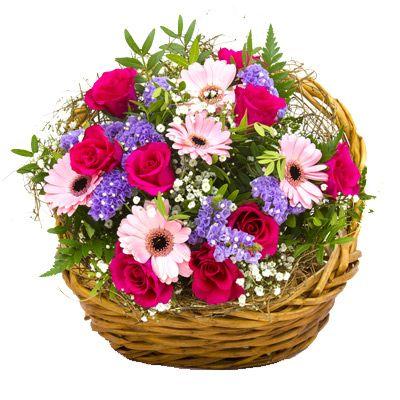 Znalezione obrazy dla zapytania kosz kwiatów
